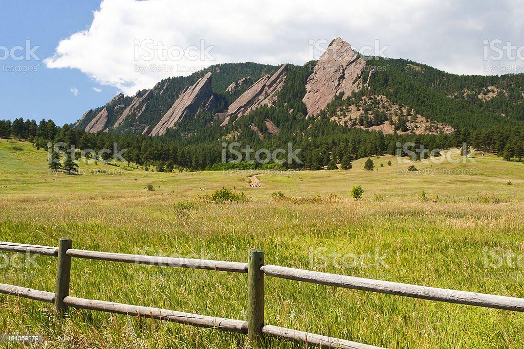 Summer Flatirons - Boulder, Colorado royalty-free stock photo