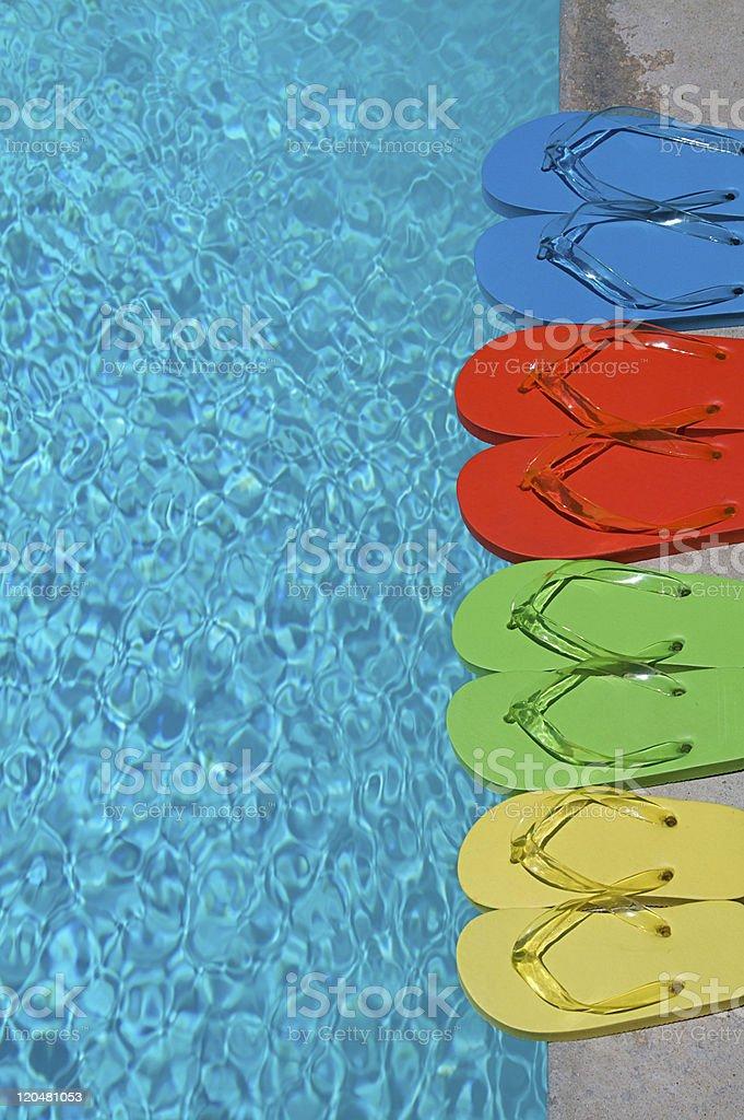 Summer Flipflops stock photo