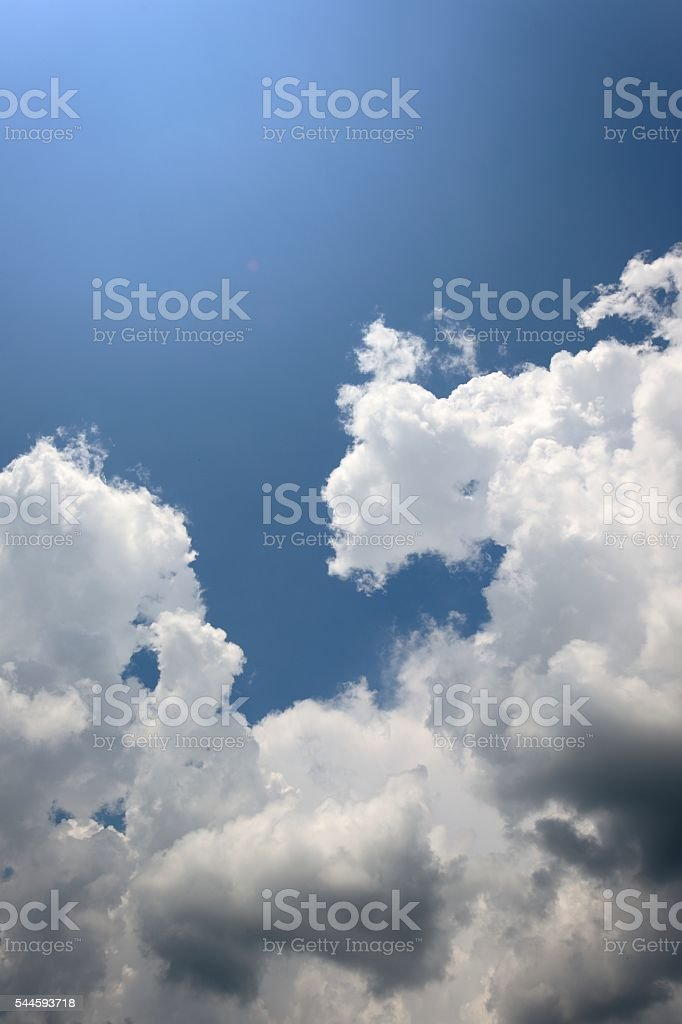 Summer Fluffy Clouds stock photo