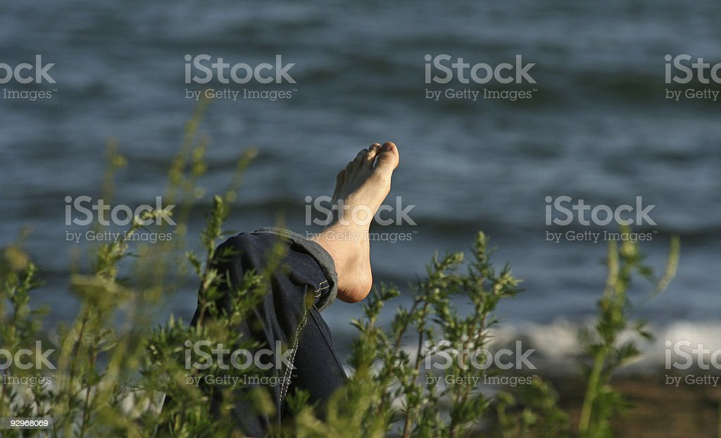 Summer foot royalty-free stock photo