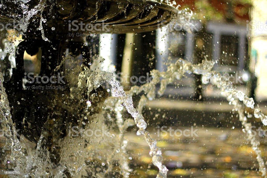 Summer fountain stock photo