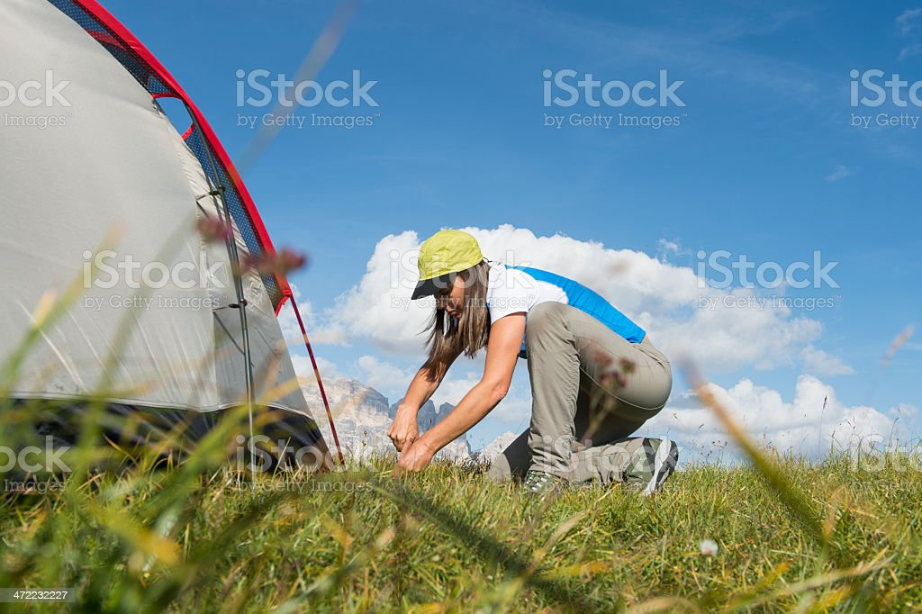 summer freedom and camp royalty-free stock photo