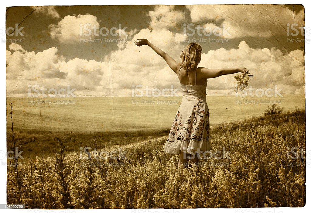 Summer, freedom, happiness stock photo