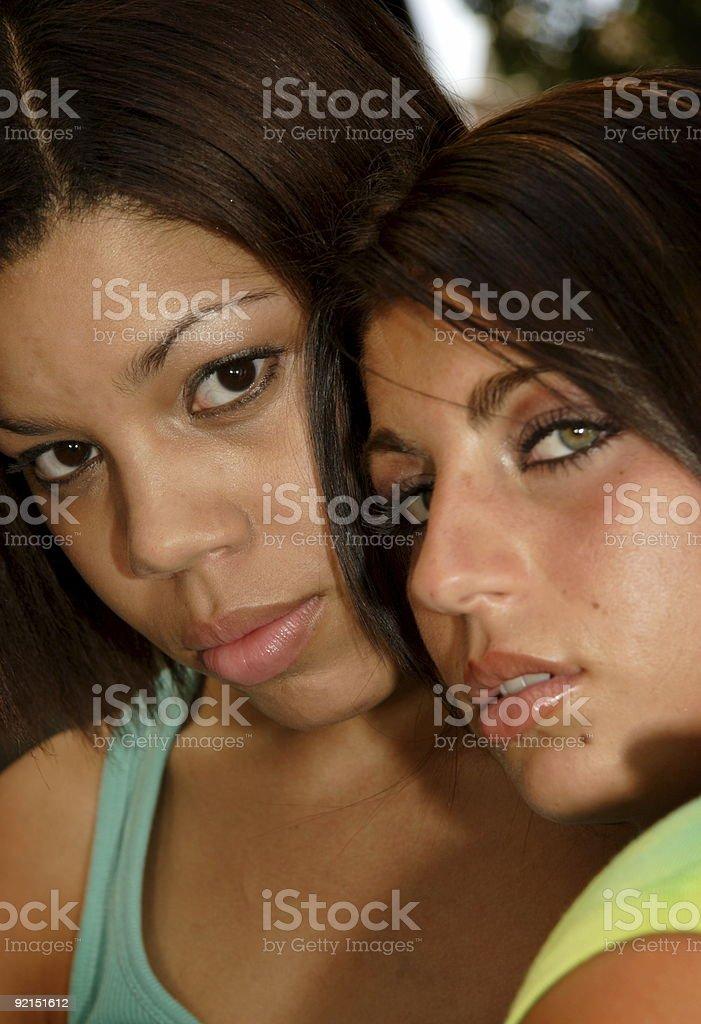 summer friends - adult women stock photo