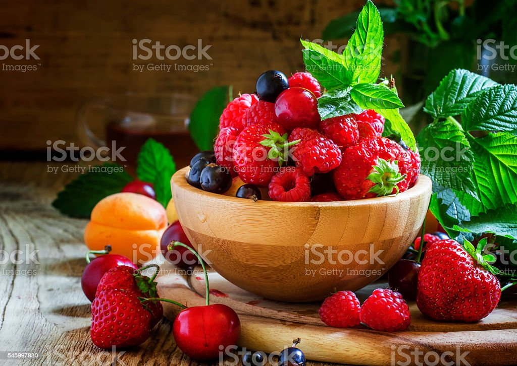 Summer fruit and berry stock photo