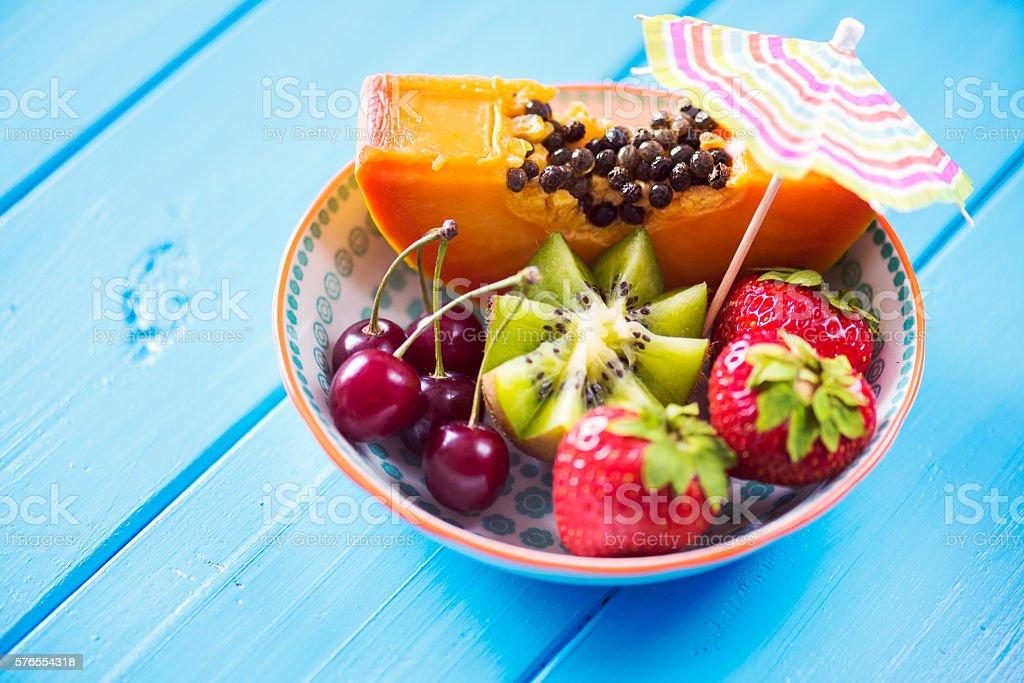 Summer Fruit Bowl stock photo