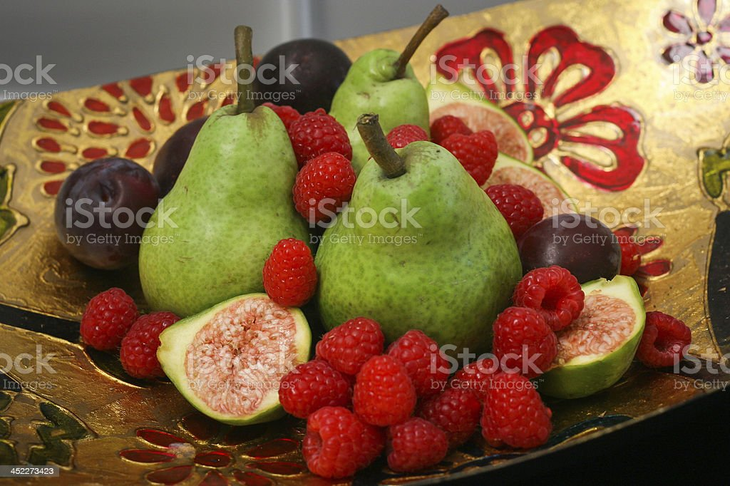 Summer Fruit in a Fancy Bowl royalty-free stock photo