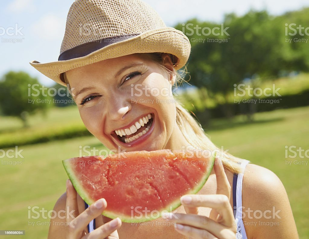 Summer fruit on a summer's day royalty-free stock photo