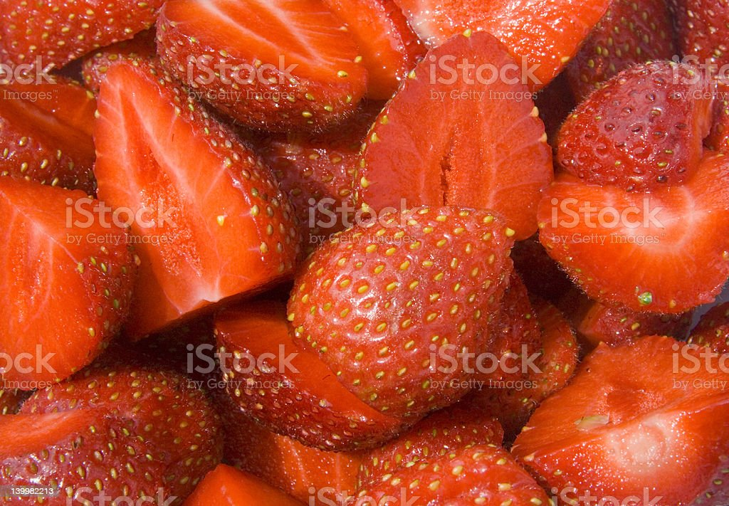 Summer fruits. Red Strawberries stock photo