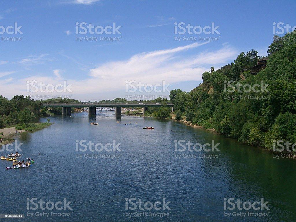 Summer Fun Rafting royalty-free stock photo