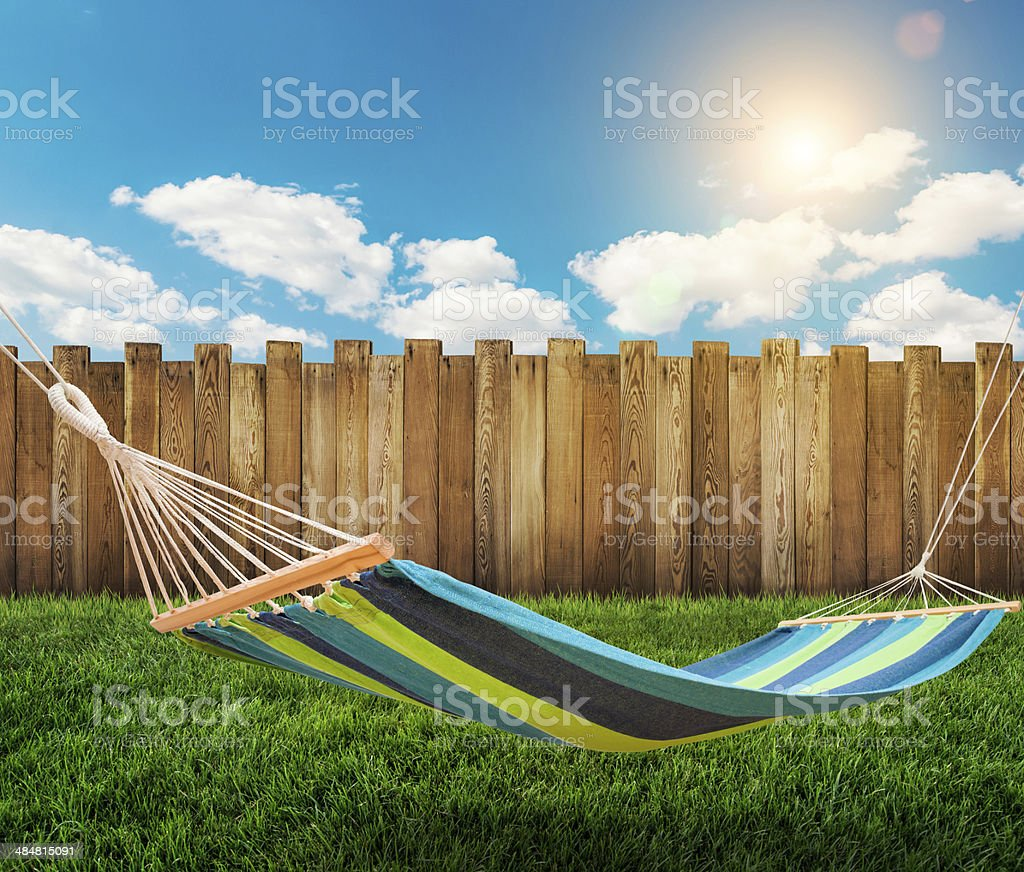 summer garden background stock photo