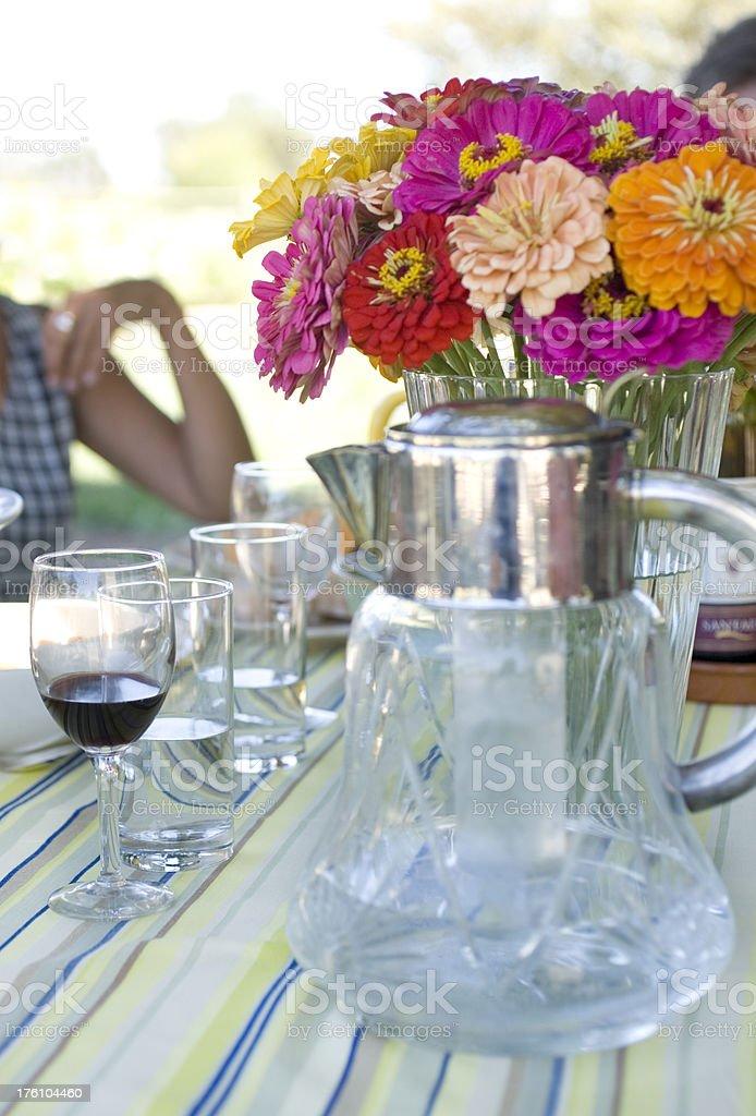 Summer garden party royalty-free stock photo