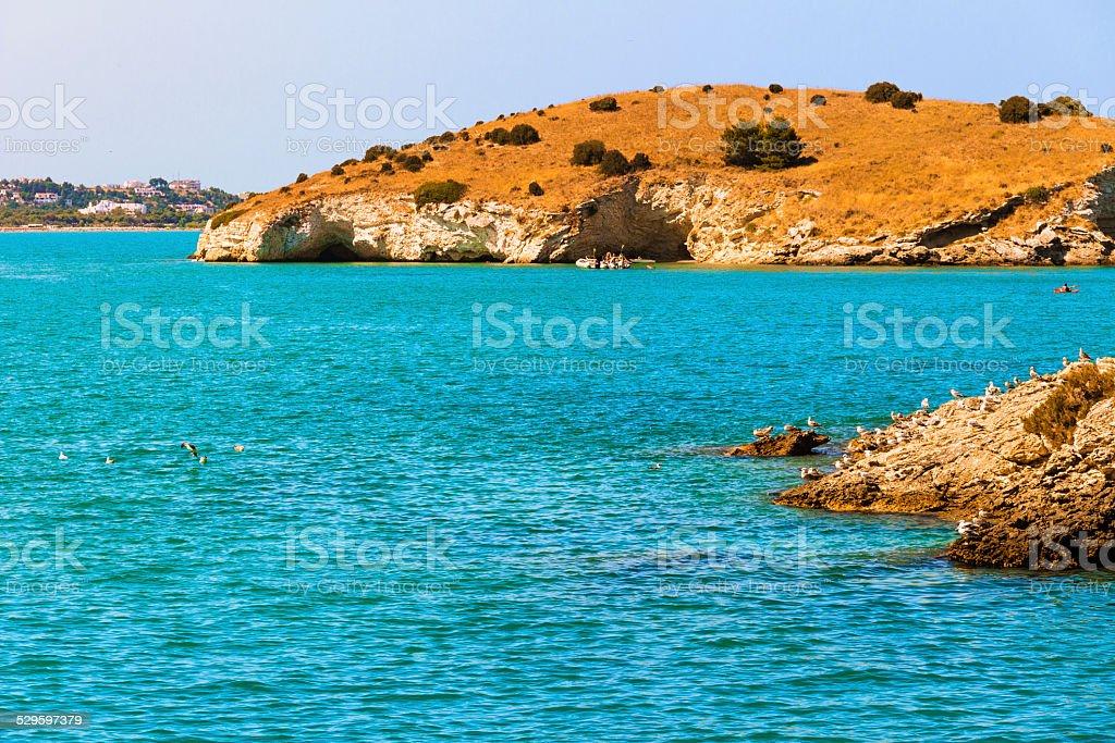 Summer. Gargano coast: Bay Vieste.-(Apulia) Italy stock photo