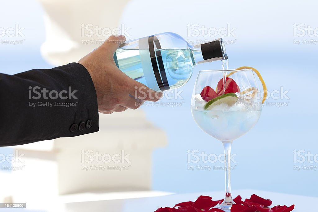 summer gin cocktail royalty-free stock photo
