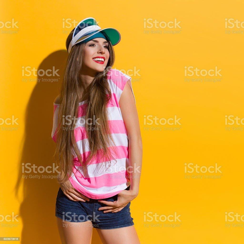 Summer Girl In Sunlight stock photo