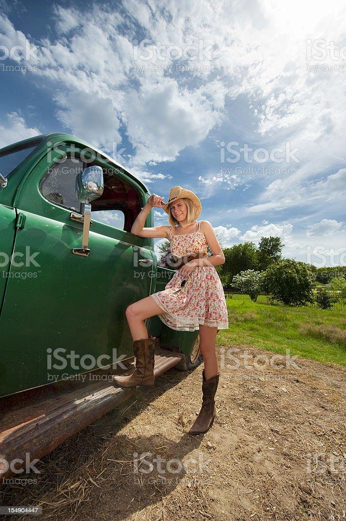 Summer girl royalty-free stock photo