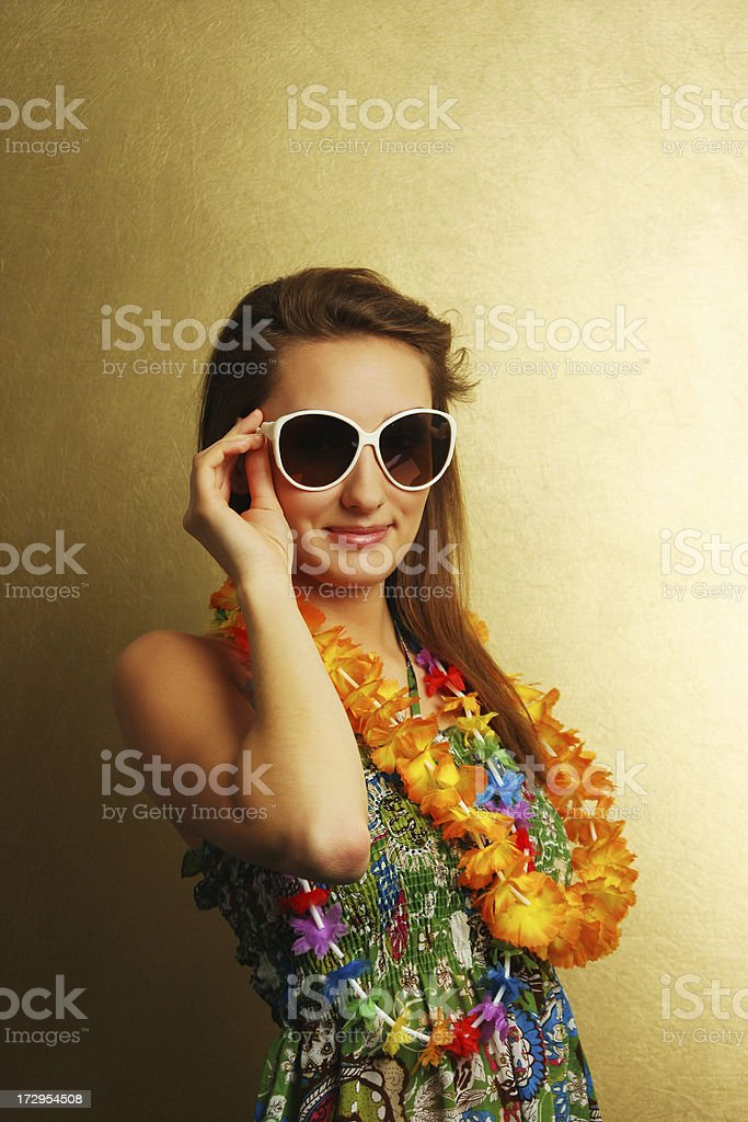 Summer girl with sunglasses royalty-free stock photo