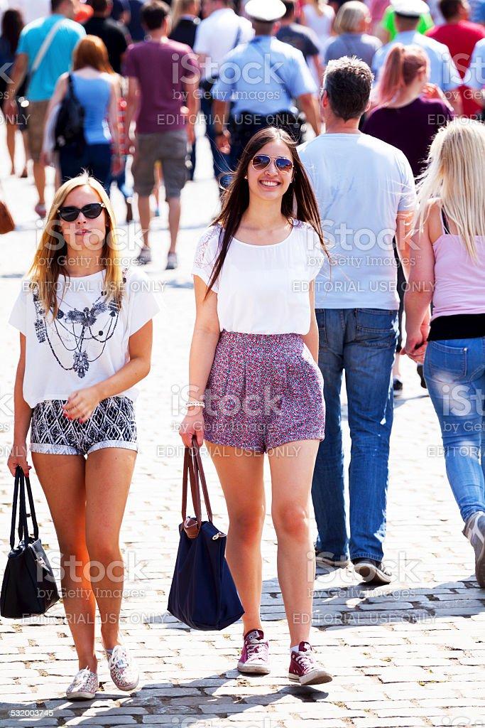 Summer girls stock photo