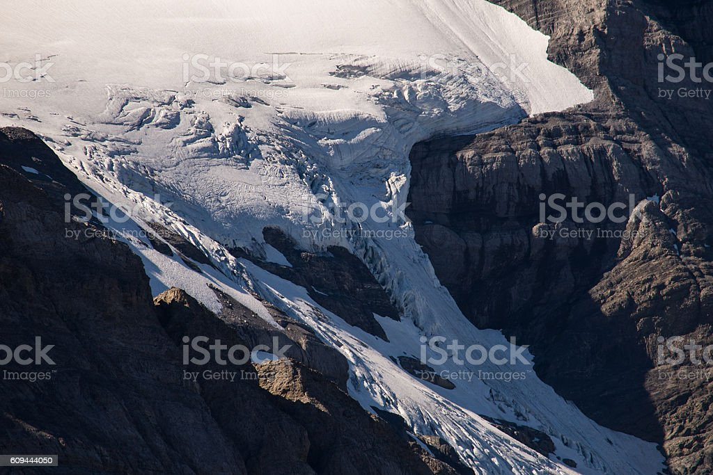 Summer glacier detail stock photo