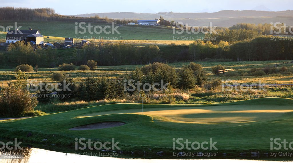 Summer Golf Scenic stock photo