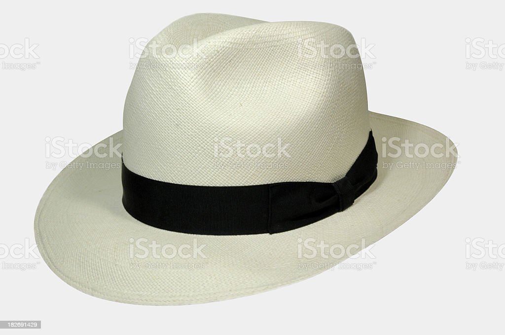Summer hat with a brim and black band stock photo