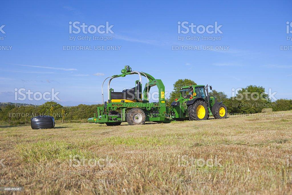 Summer Haymaking stock photo