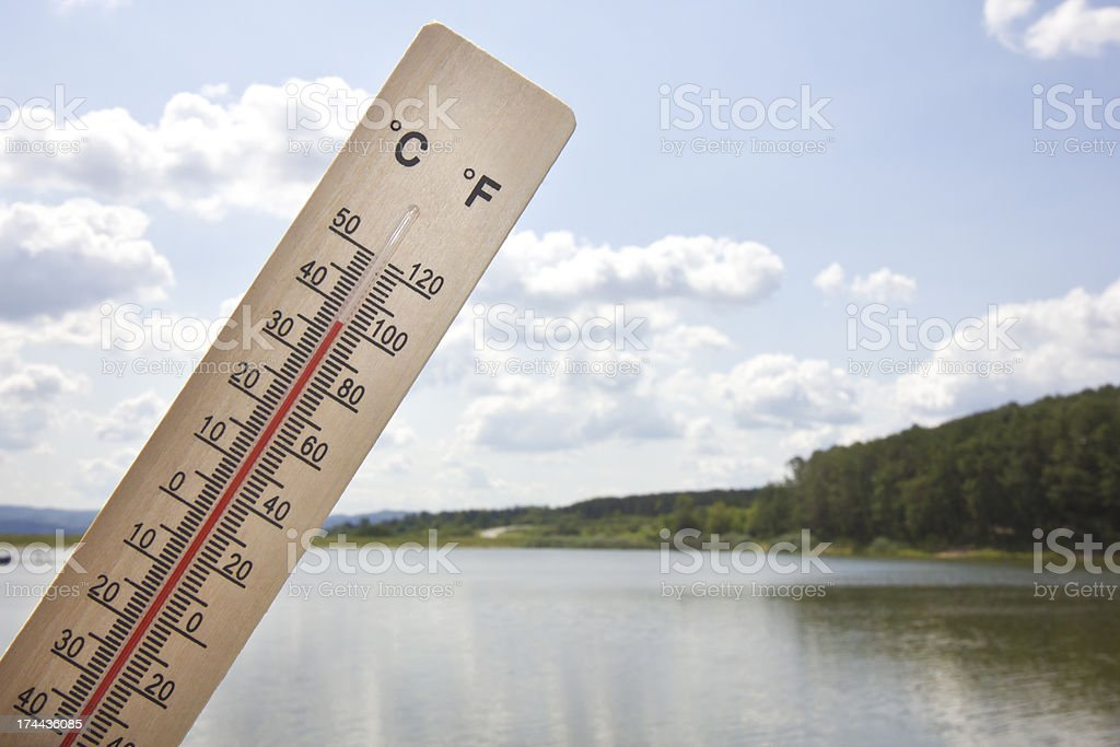 Summer heat by the lake royalty-free stock photo