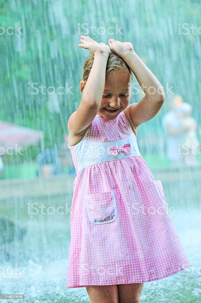 Summer heavy rain royalty-free stock photo