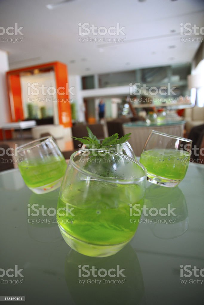 Summer Herbs Cold Drinks royalty-free stock photo