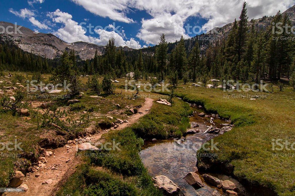 Summer Hiking. stock photo