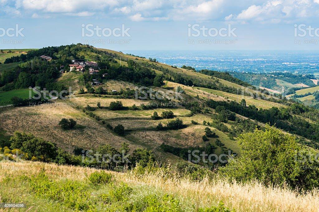 Summer hills stock photo