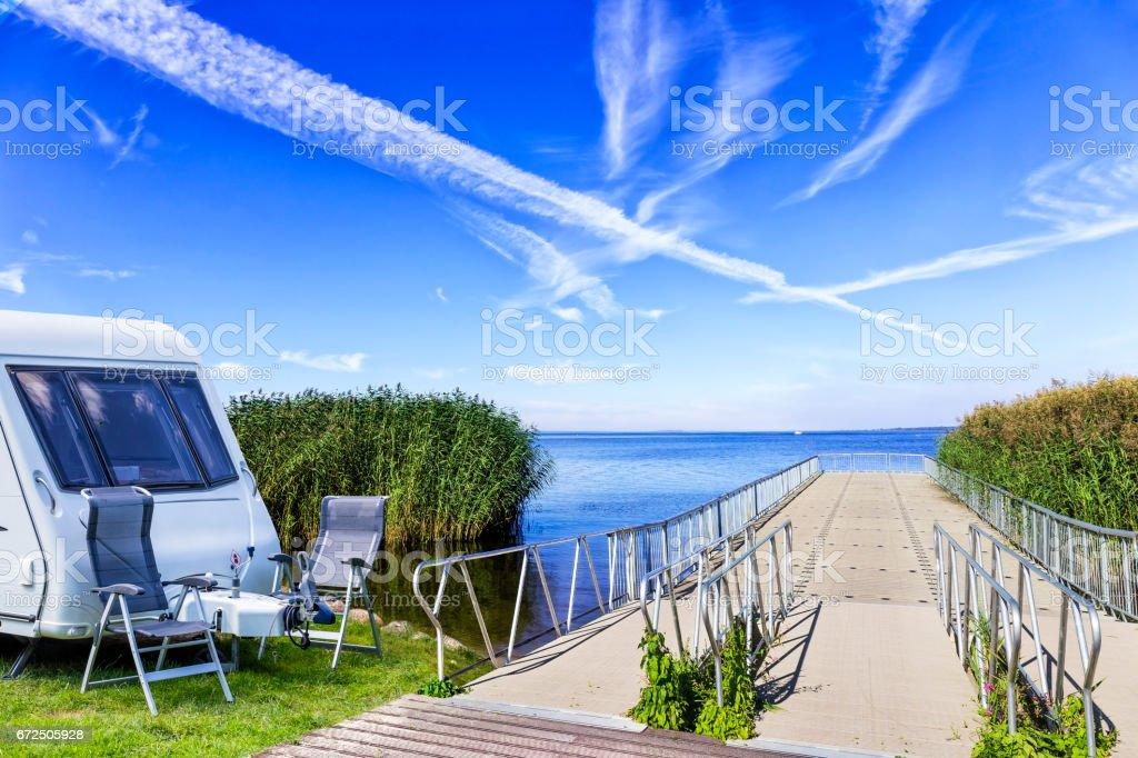 Summer holiday at the Szczecin Lagoon, Poland stock photo