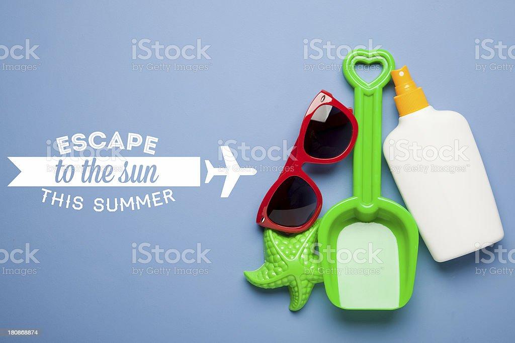 Summer holiday background royalty-free stock photo