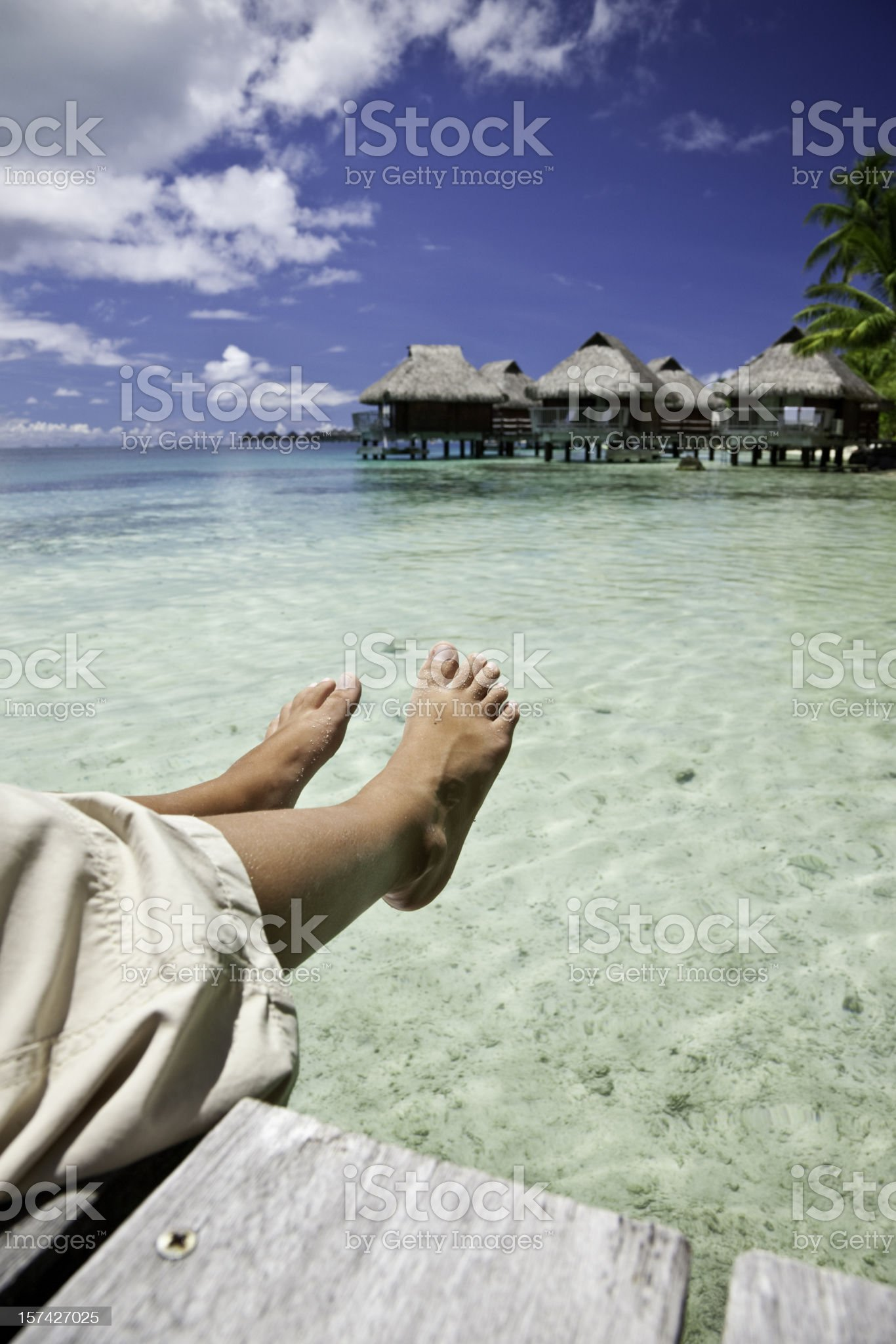 Summer Holiday Relaxation royalty-free stock photo