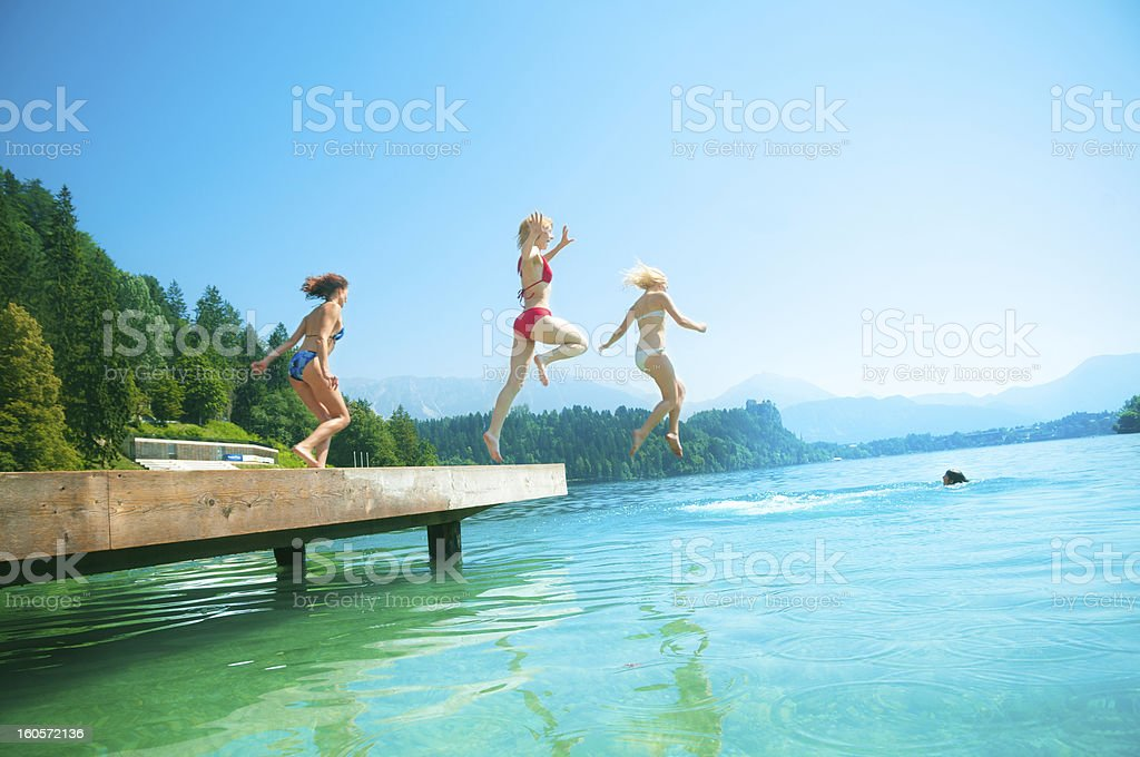 Summer Holiday with friends stock photo