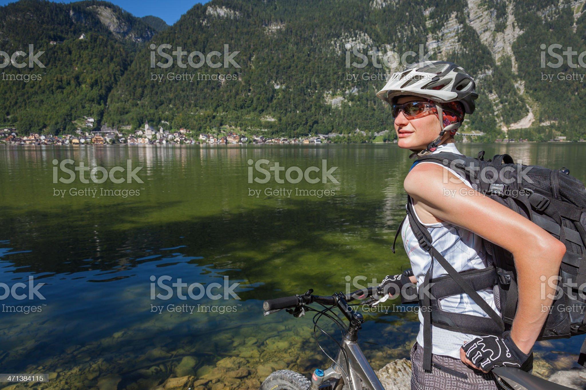 Summer holidays in Hallstatt, Austria royalty-free stock photo