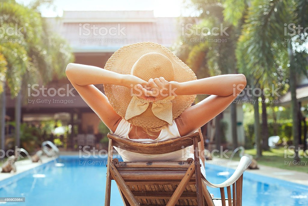 summer holidays stock photo