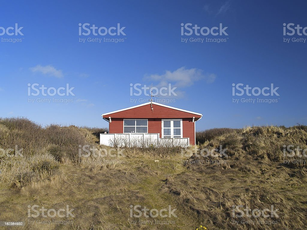 Summer house at spring stock photo