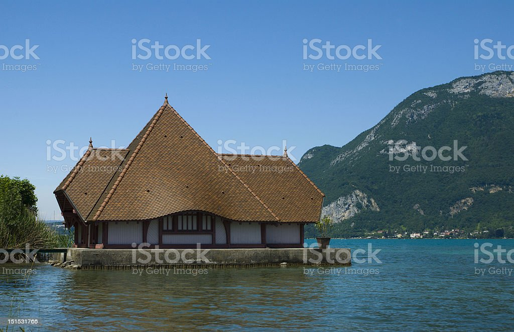 Summer house on the lake royalty-free stock photo