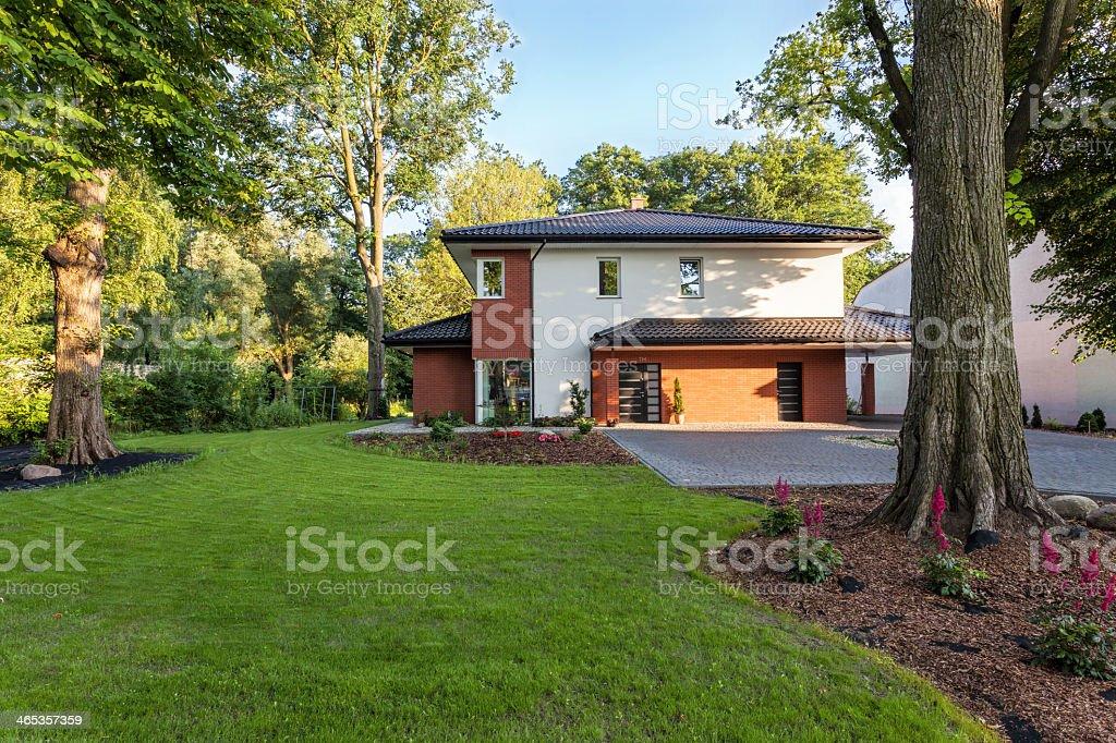 Summer house stock photo