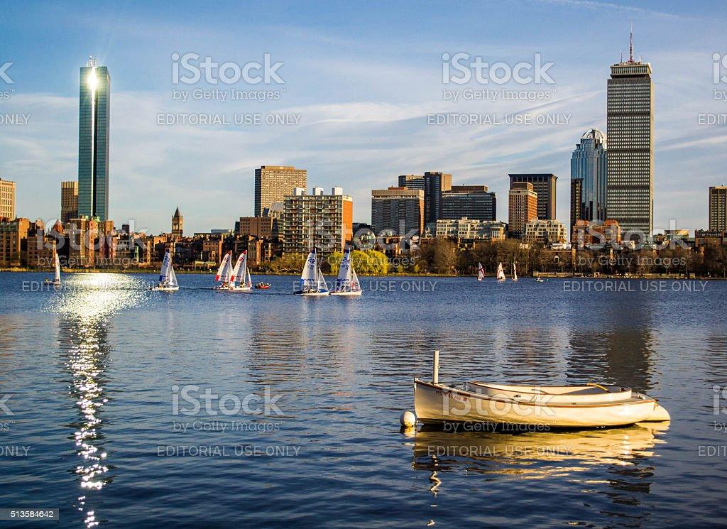 Summer in Boston stock photo