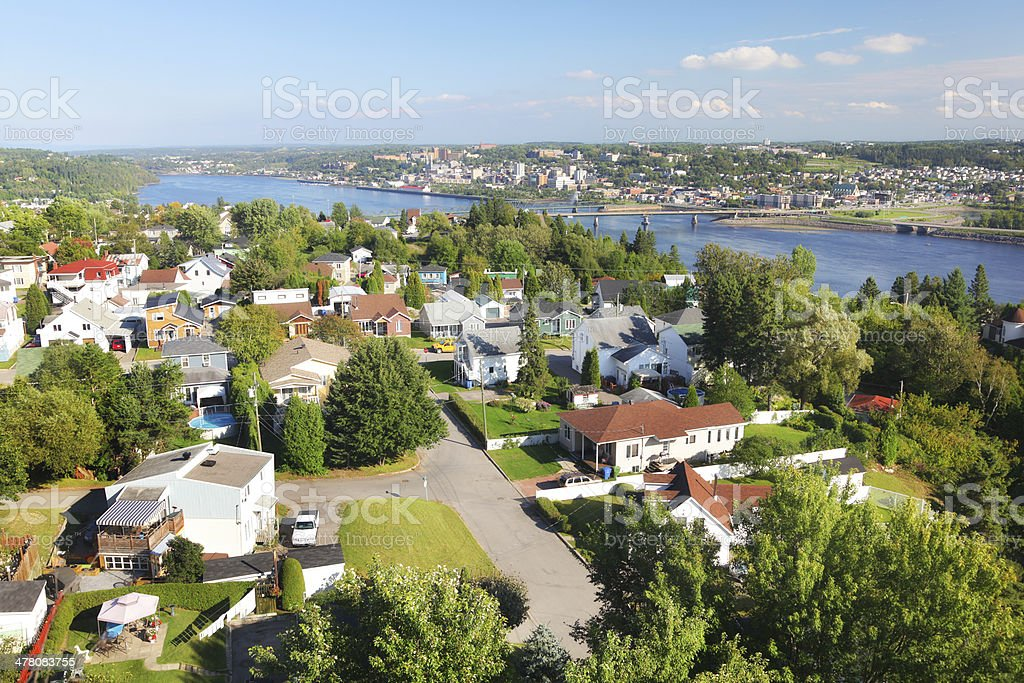 Summer in Chicoutimi royalty-free stock photo