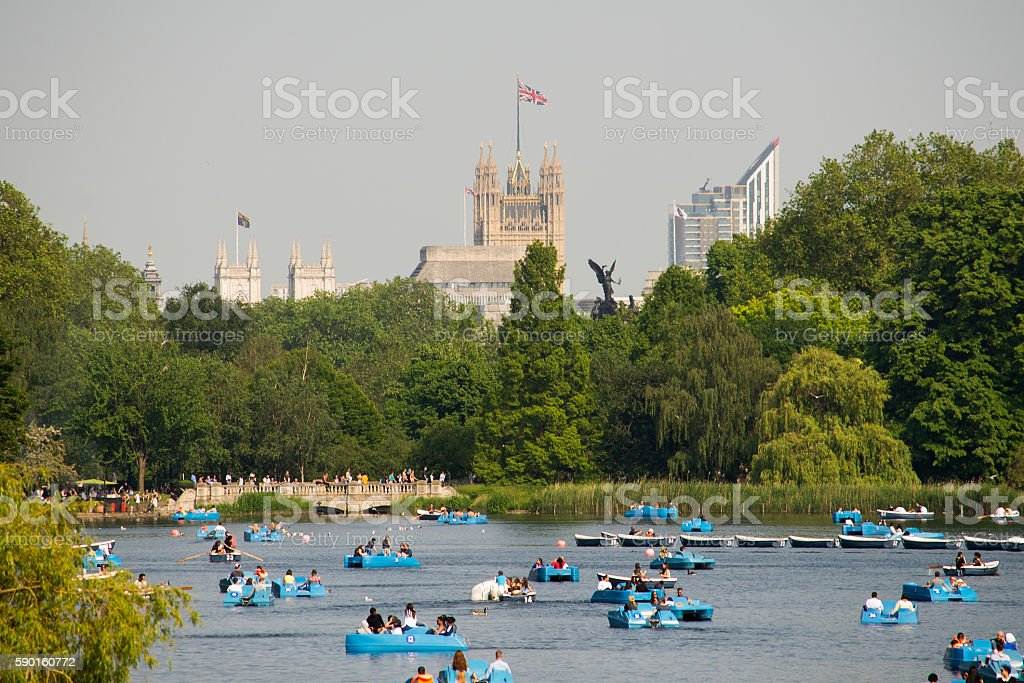 Summer in Hyde park stock photo