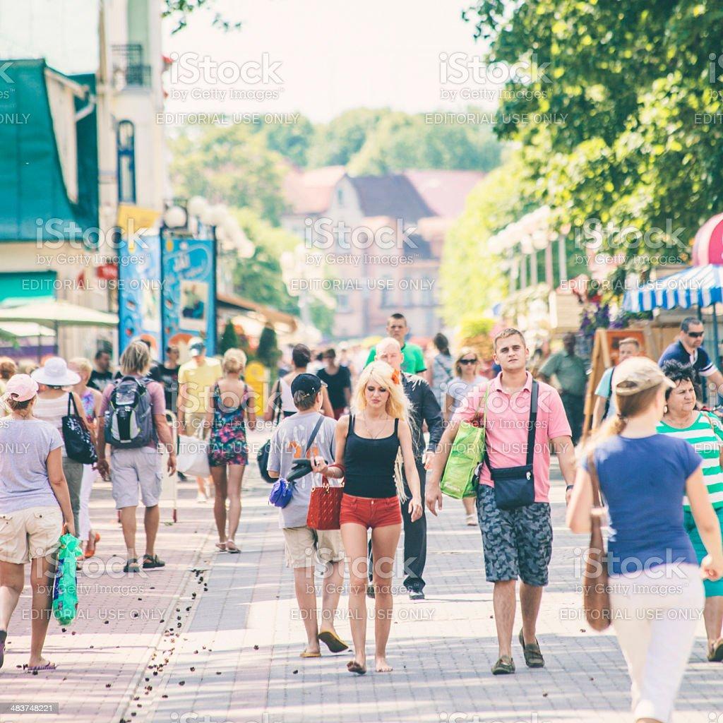Summer in Jurmala. stock photo