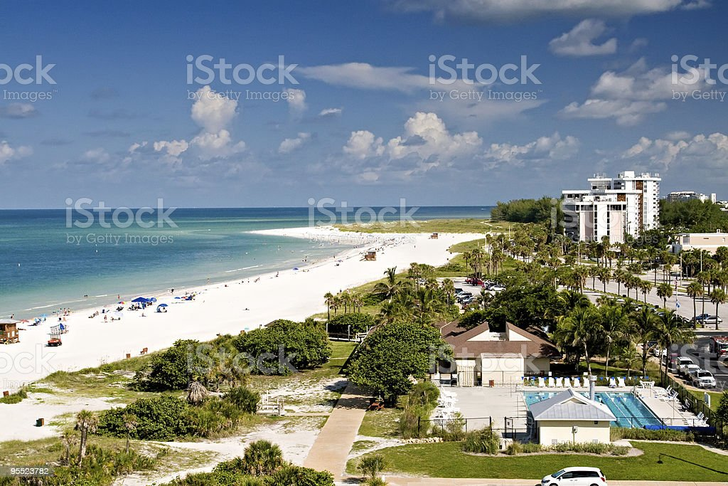 Summer in Lido Beach, Florida stock photo