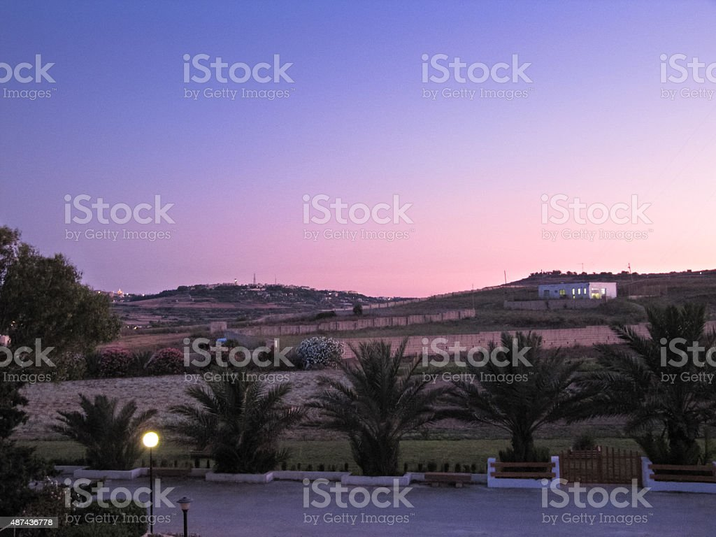 Summer in Malta in the evening stock photo