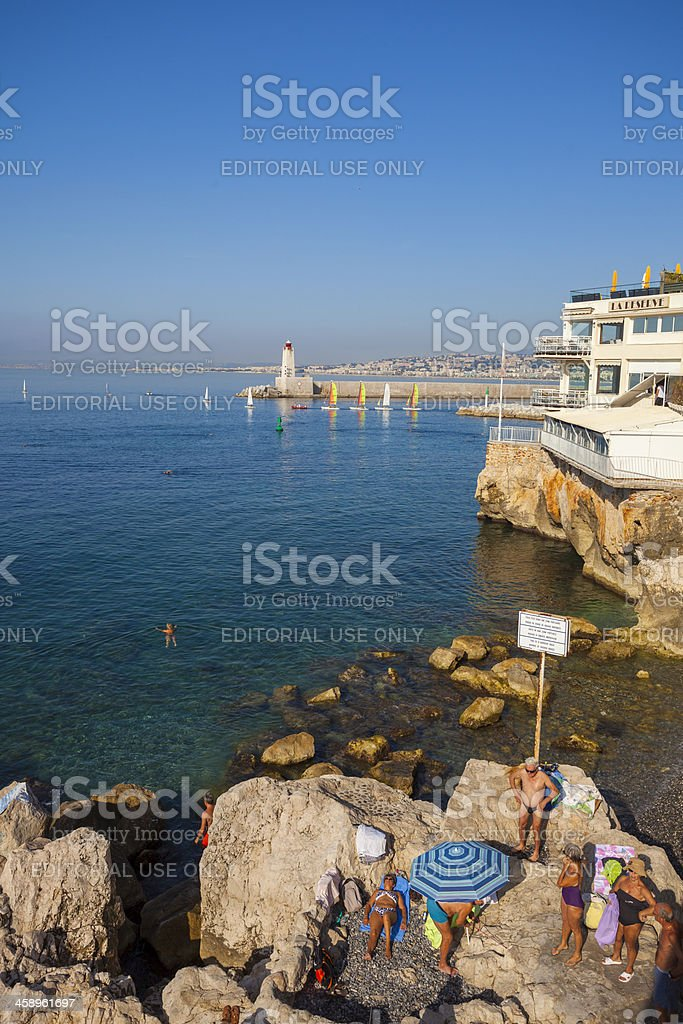 Summer in Nice, France royalty-free stock photo