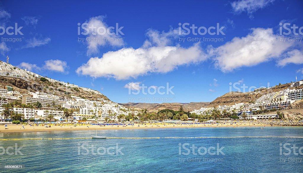 Summer in Puerto Rico, Gran Canaria (Spain) stock photo