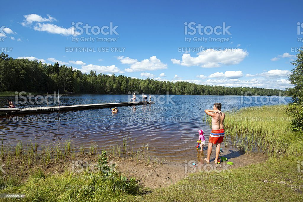 Summer in Sweden royalty-free stock photo