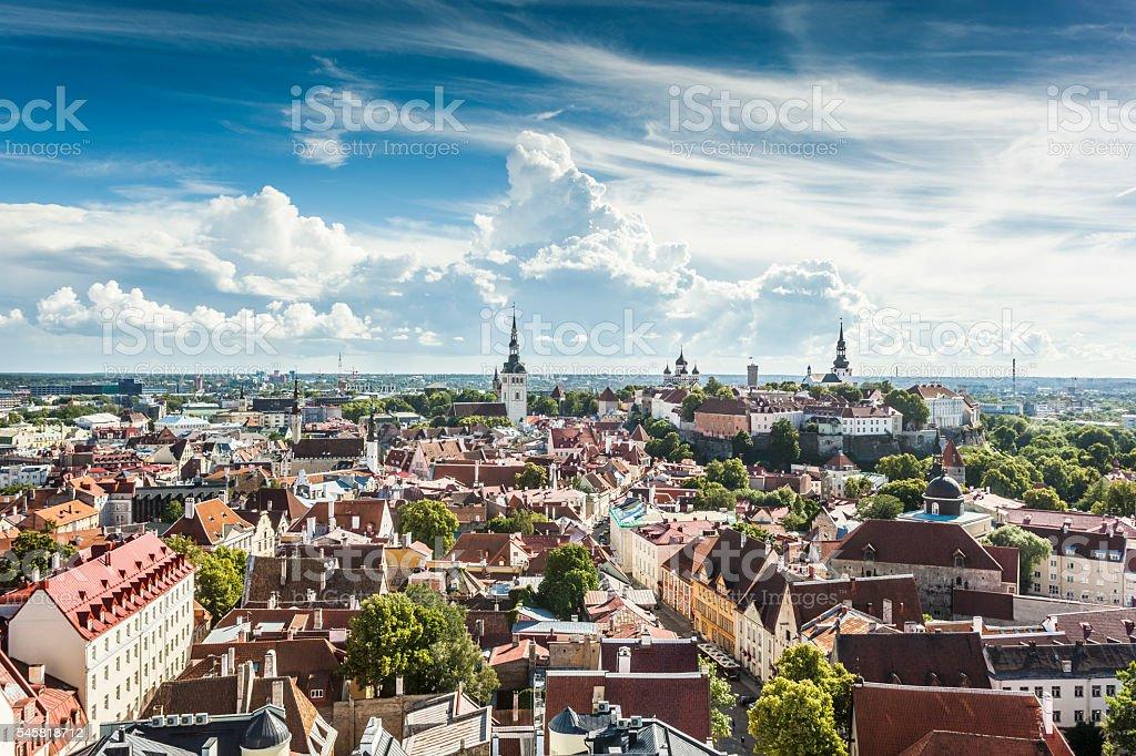 Summer in Tallinn, Estonia stock photo